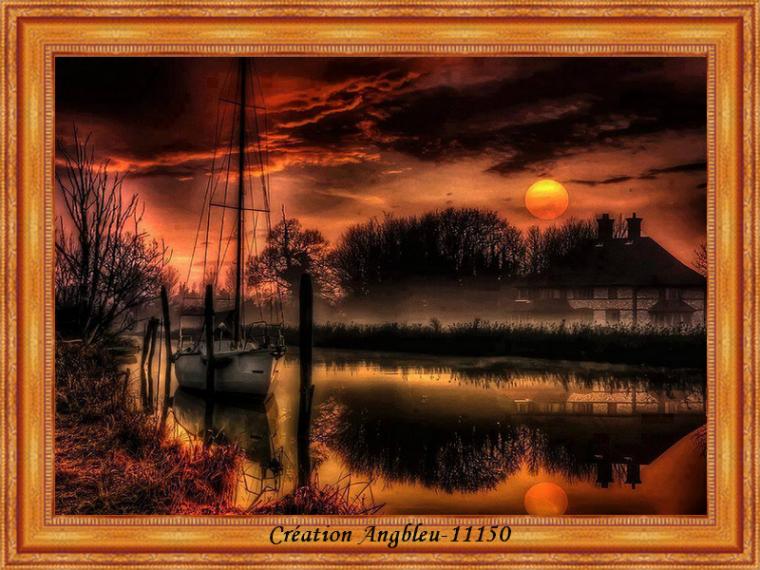Bonne fin de soirée à tous avec ce beau coucher de soleil