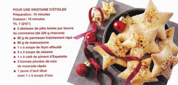 IdéeApéro : étoiles aux parmesan (simple)