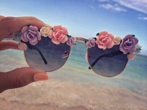 DIY- lunettes de soleil fleuries