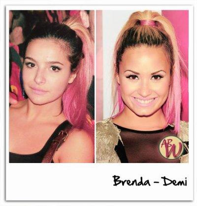 Sans le vouloir et sans le savoir (je suppose) Demi Lovato a copié le look de Brenda. Une énorme coïncidence