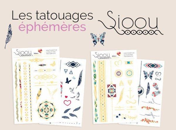 Tatouage éphémères Sioou avec le magazine Public