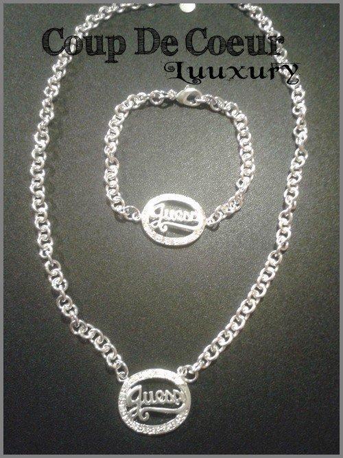 Parure Guess ( Collier + Bracelet )