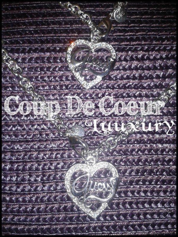 """Parure Guess """"Coeur"""" (Collier + Bracelet)"""
