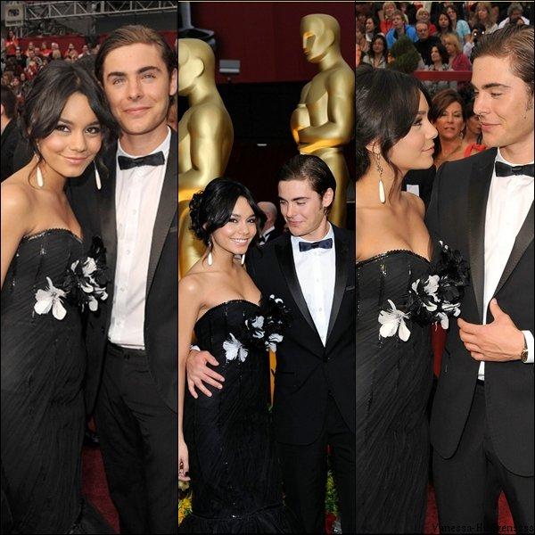 Article flash back. Le 22 février 2009, Vanessa était avec Zac aux Academy Awards (Oscars). Ils sont mignons tous les deux vous trouvez pas ? Que pensez-vous de la tenue de Vanessa ?