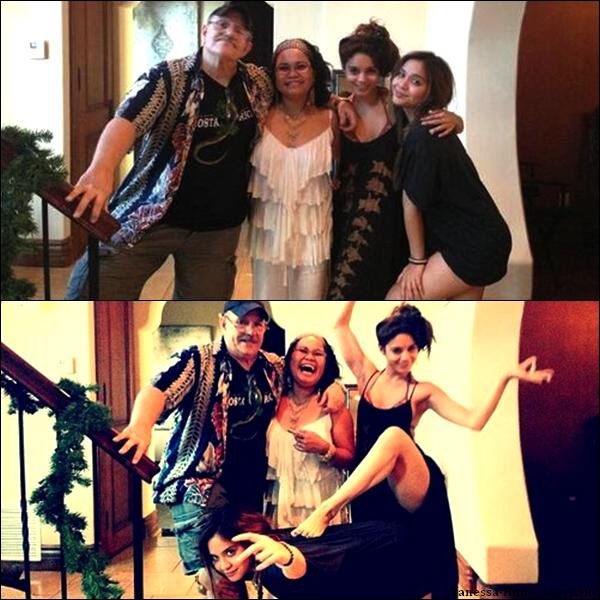 Voici 2 nouvelles photos de Vanessa avec son père Greg, sa mère Gina, et sa s½ur Stella.