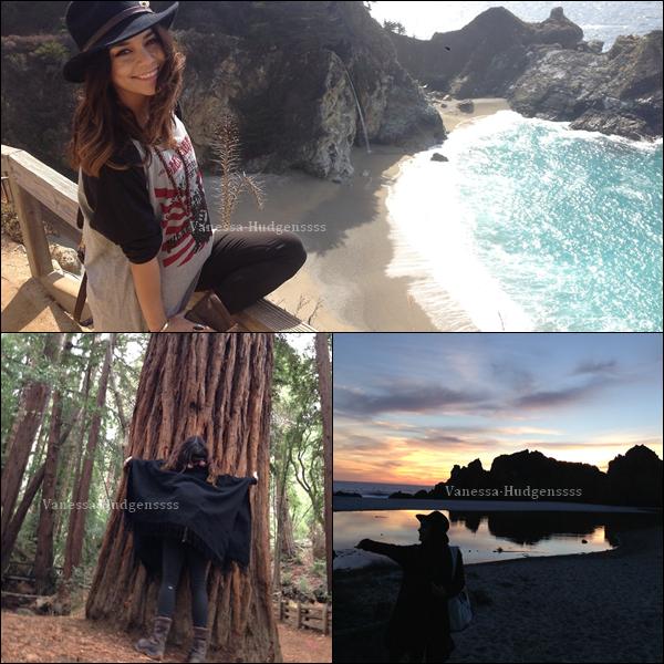Vanessa a partagé sur son Tumblr, des photos de son voyage à Big Sur, qu'elle a effectué il y a quelques semaines.
