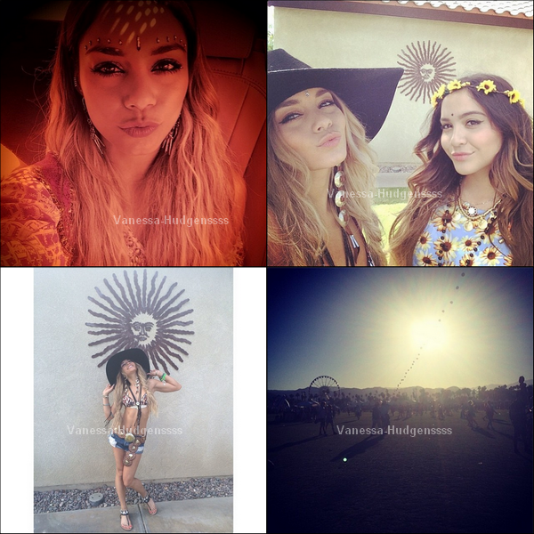 """11.04.2014 : Vanessa s'est rendue avec Austin Butler et des amis au premier jour du festival """"Coachella Music & Arts"""" à Indio. TOP pour Nessa, vous en pensez quoi de ses cheveux ?"""