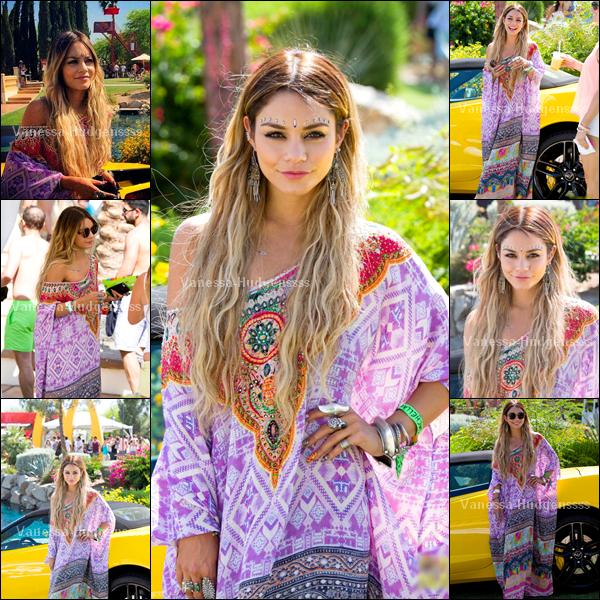 """12.04.2014 : Vanessa était avec Austin Butler au deuxième jour du festival """"Coachella Music & Arts"""". BOF pour sa tenue, je n'aime pas trop le foulard qu'elle a autour de sa tête, mais sinon elle est belle"""