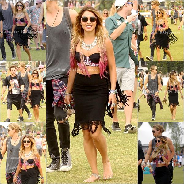 18.04.2014 : Vanessa était présente avec Austin, au second week-end du festival de Coachella à Indio. BOF pour sa tenue, vous en pensez quoi ?