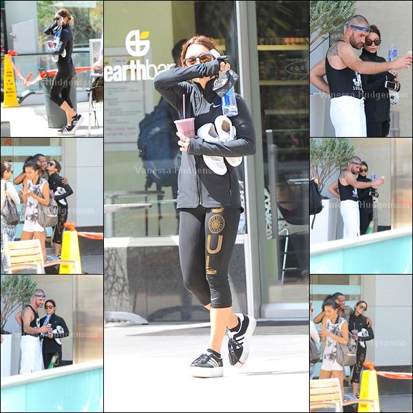 13.06.2014 : Vanessa a d'abord été aperçue quittant son cours d'Equinox dans West Hollywood. Tenue de sport, donc FLOP pour ma part. Vos avis ?