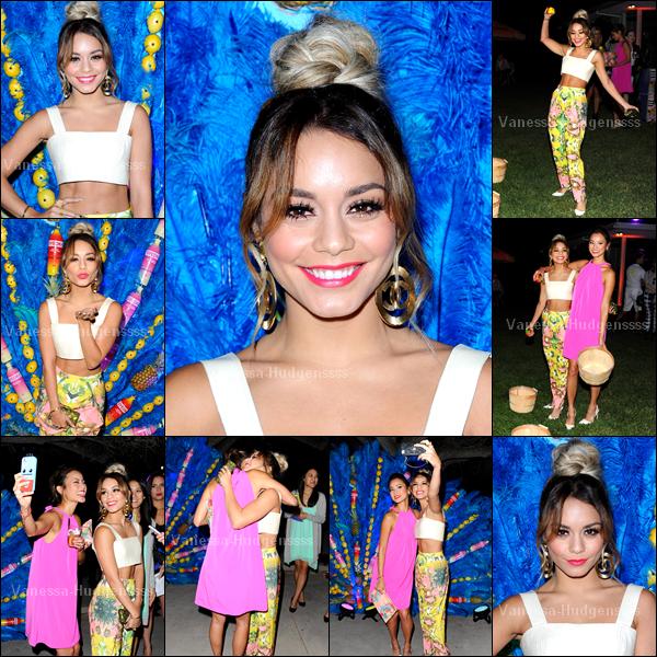 """17.06.2014 : Vanessa était présente à la soirée """"Svedka Summer Samba"""" dans une résidence privée de Beverly Hills. Vanessa était magnifique, TOP. Vos avis ?"""