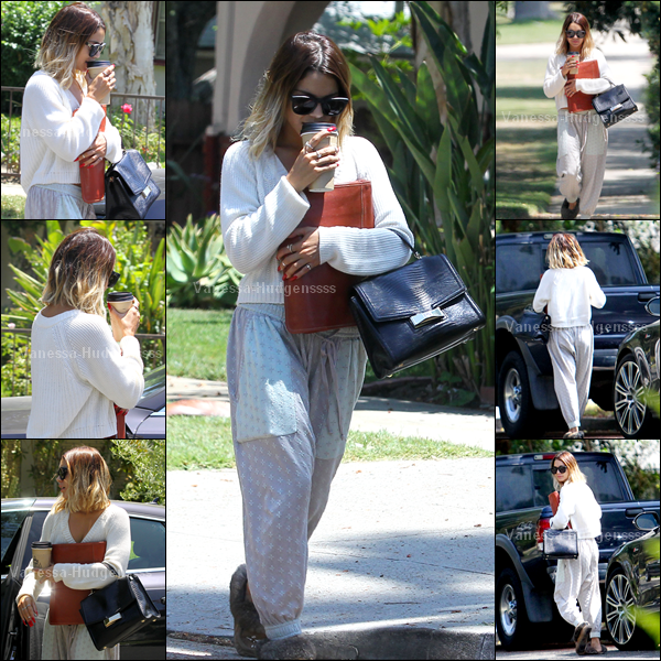 10.07.2014 : Vanessa a été photographiée lorsqu'elle quittait un cours de théâtre dans Los Angeles. FLOP pour Nessa, ses chaussures on dirait des chaussons et son pantalon un bas de pyjama. Vos avis ?