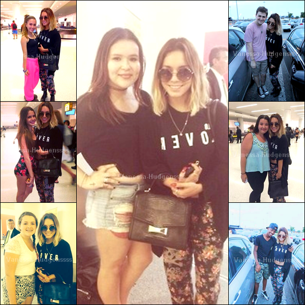13.07.2014 : Vanessa a été photographiée arrivant à l'aéroport de New-York, avec sa s½ur Stella. Je trouve que c'est un FLOP, et vous ?