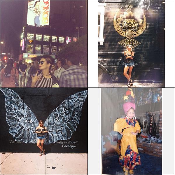 Voici de nouvelles photos Instagram de Vanessa. J'adore celle avec les ailes de papillons, et elle était trop choux sur la photo quand elle était petite !
