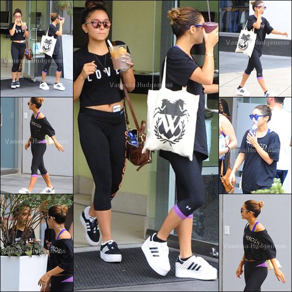 19.08.2014 : Vanessa a été vue avec sa s½ur Stella allant et quittant la salle de sport Equinox dans West Wollywood. BOF pour sa tenue, je n'aime pas ses chaussures. Et vous ?