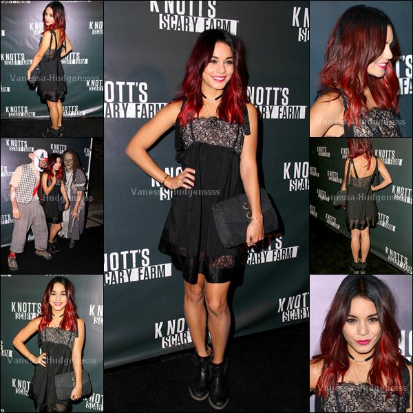 """02.10.2014 : Vanessa était présente à la soirée d'ouverture du """"Knott's Scary Farm"""" à Buena Park. Je la trouve très belle, TOP ! Vous en pensez-quoi ?"""