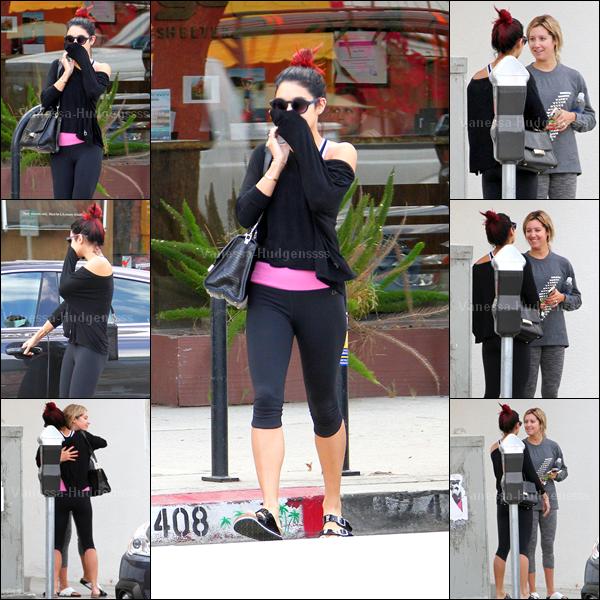 16.10.2014 : Vanessa a d'abord été aperçue dans les rues de Los Angeles. FLOP pour Vanessa. Vos avis ?