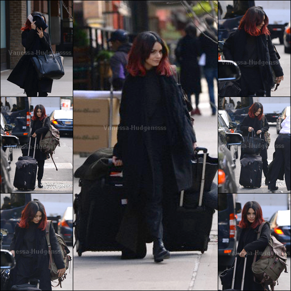21.10.2014 : Vanessa a d'abord été photographiée avec Austin Butler à New York. Elle était toute souriante, ça fait plaisir à voir. En revanche je n'aime pas trop sa tenue, je trouve que c'est un FLOP. Vos avis?