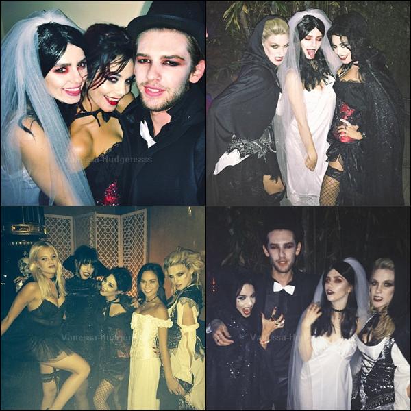 31.10.2014 : Vanessa a fêté Halloween, comme elle le fait tous les ans, avec ses amis. Vos avis ?