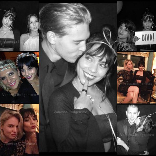22.11.2014 : Vanessa a fêté avec des amis, le 24ème anniversaire de Sarah Hyland. Elle est toute mignonne avec sa frange. Vos avis ?