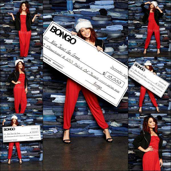 """Il y a 1 mois, Vanessa s'était rendue à New York pour réaliser un nouveau photoshoot pour BONGO. La belle a fait don de 10 000 dollars et de 100 paires de pantalons pour l'organisme de bienfaisance """"Blue Jeans Go Green"""". Elle était toute belle. Vos avis ?"""