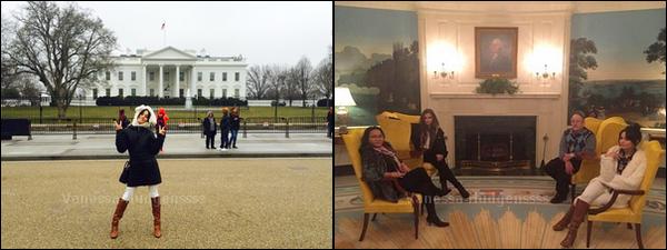 09.02.2015 : Vanessa accompagnée de sa soeur Stella, sa mère Gina et son père Greg, ont eu le privilège d'avoir une visite privée de la Maison Blanche. Vanessa est toute mignonne. Vos avis ?