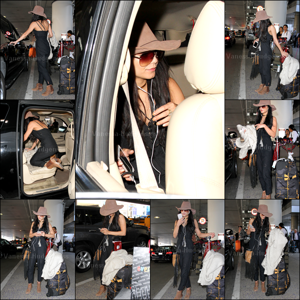 25.02.2015 : Après avoir pris des vacances avec son chéri Austin Butler en Nouvelle-Zélande, Vanessa est de retour à Los Angeles. Elle a été vue arrivant à l'aéroport LAX. J'aima assez sa tenue, petit TOP. Vos avis ?