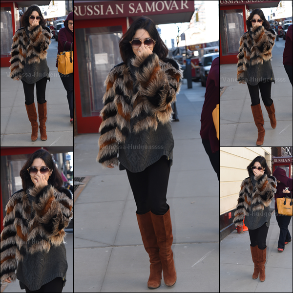 12.03.2015 : Vanessa a été photographiée se baladant dans les rues de New-York. Je n'aime pas trop sa tenue, je trouve que c'est un BOF. Et vous ?