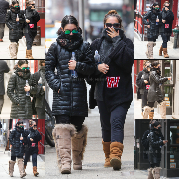 18.03.2015 : Vanessa a tout d'abord été photographiée avec Stella arrivant à la salle de gym à New York. Je n'aime pas du tout leurs tenues, FLOP. Vos avis?