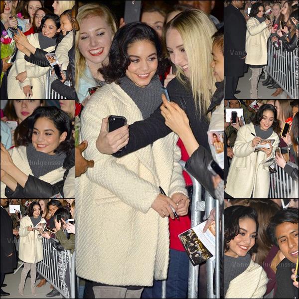 """19.03.2015 : Vanessa a d'abord été vue se rendant aux """"Villaggio il Nail Spa"""" à New York. J'aime son manteau blanc, mais pas le reste. FLOP. Vos avis ?"""