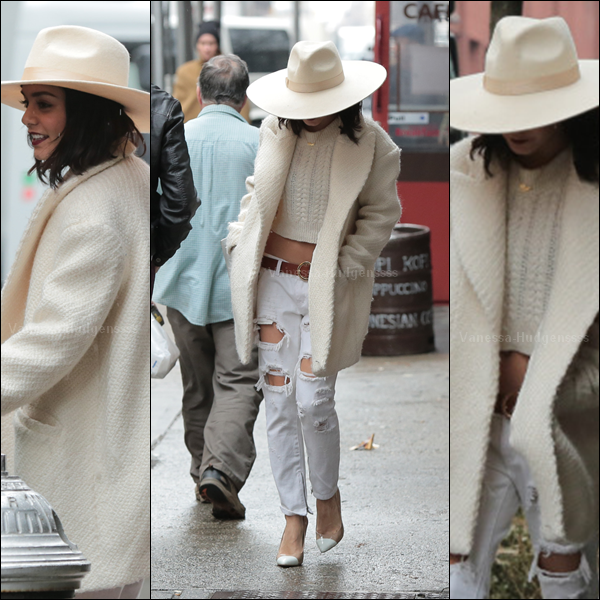 26.03.2015 : Vanessa a été aperçue dans les rues de New-York. J'aime beaucoup sa tenue, ça change du noir.. Je trouve que c'est un beau TOP. Vos avis ?