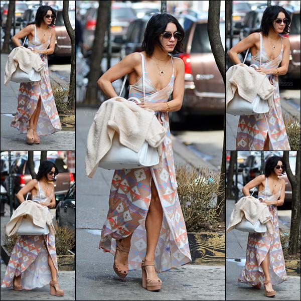 18.04.2015 : Vanessa a été aperçue quittant son appartement à New-York. J'aime assez sa tenue, surtout ses chaussures, petit TOP. Vos avis ?