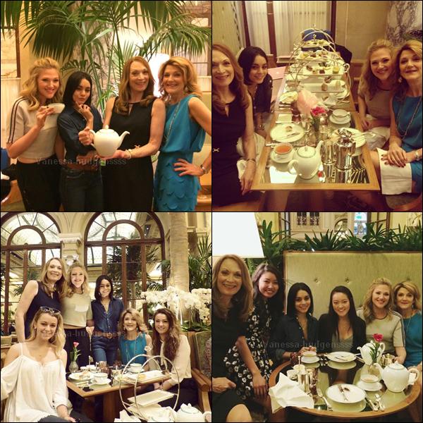 21.04.2015 : Vanessa était à l'hôtel Plaza avec les acteurs de Gigi avant de donner une représentation de Gigi. Je la trouve toute mignonne, vos avis ?