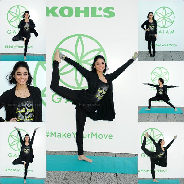 """23.04.2045 : Vanessa était présente au """"Kohl's Exclusive Gaiam Apparel Launch Event"""" à New-York. Sa tenue de sport est simple, mais jolie, petit TOP. Vos avis ?"""