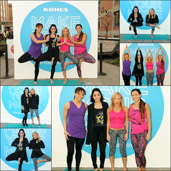 "23.04.2045 : Vanessa était présente au ""Kohl's Exclusive Gaiam Apparel Launch Event"" à New-York. Sa tenue de sport est simple, mais jolie, petit TOP. Vos avis ?"