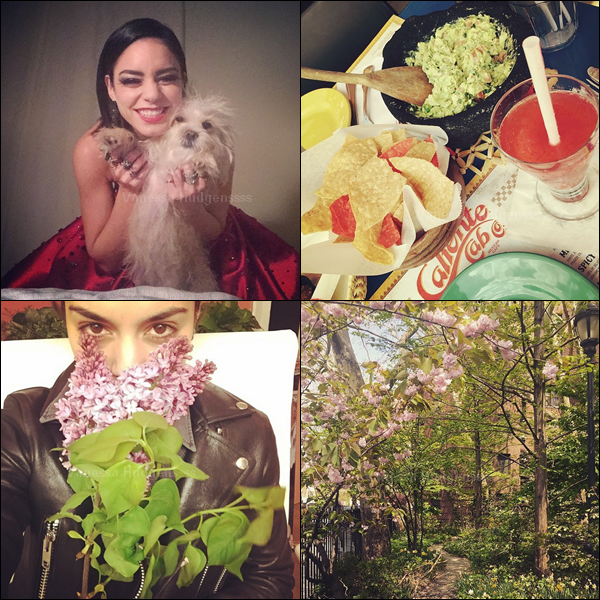 06.05.2015 : Vanessa a été d'abord été vue dans les rues de New-York avec sa s½ur Stella. Je n'aime pas du tout leur tenues, FLOP. Vos avis ?