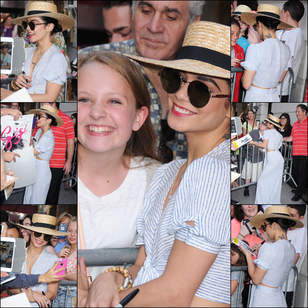 10.05.2015 : Vanessa a d'abord été vue quittant son appartement, toujours à New-York. Je n'aime pas trop sa tenue, BOF. Et vous ?