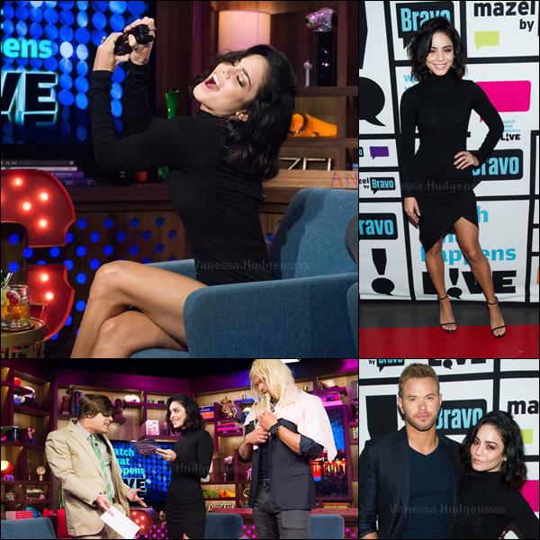 """21.05.2015 : Vanessa était présente avec Kellen Lutz au """"Watch What Happens Live"""". Nessa était toute belle, TOP. Vos avis ?"""