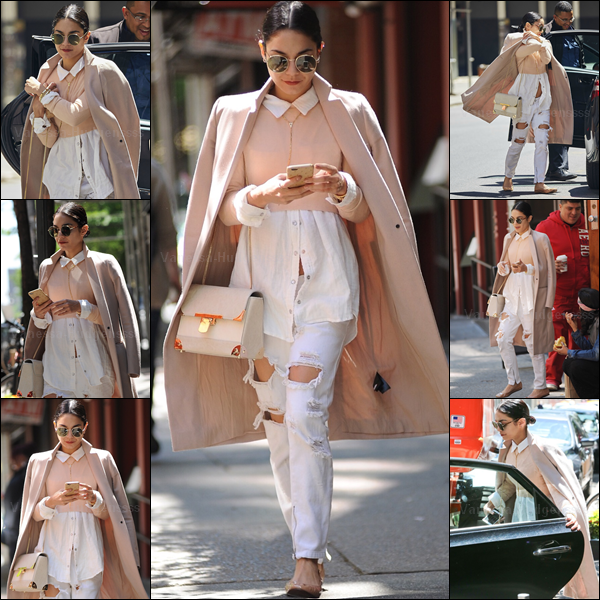 "23.05.2015 : Vanessa a d'abord été photographiée quittant son appartement à New-York, puis arrivant au ""Neil Simon Theater"". J'aime beaucoup sa tenue, je trouve Vanessa magnifique. TOP pour ma part. Et pour vous ?"
