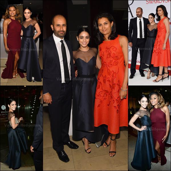 """01.06.2015 : Vanessa a tout d'abord été vue arrivant sous la pluie au """"CFDA Fashion Awards 2015"""" à New-York. Vanessa était magnifique ! TOP. Vos avis ?"""