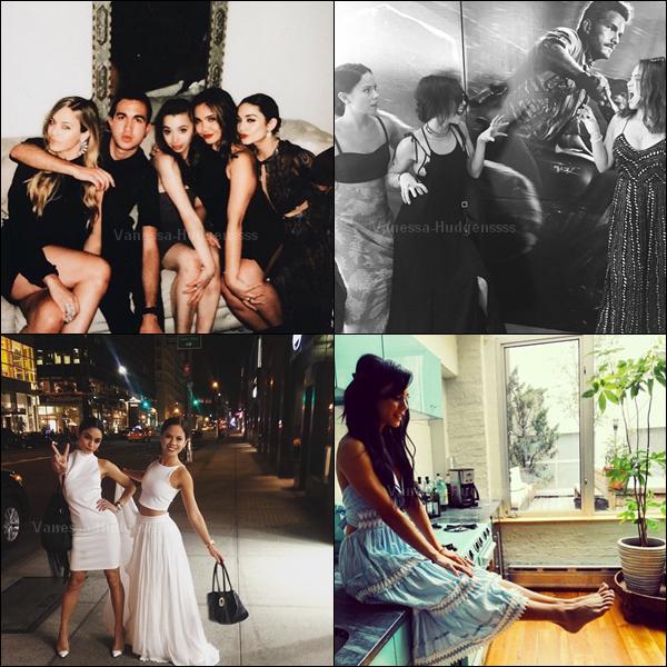 11.06.2015 : Vanessa a d'abord été vue quittant son appartement à New-York. Je n'aime pas trop sa combinaison, BOF. Et vous ?