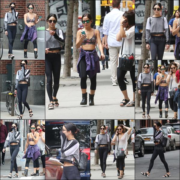 15.06.2015 : Vanessa a été photographiée dans les rues de New-York avec sa soeur Stella et une amie, Kim Hidalgo. Pour une tenue de sport, je trouve que ça va, petit BOF. Vos avis ?