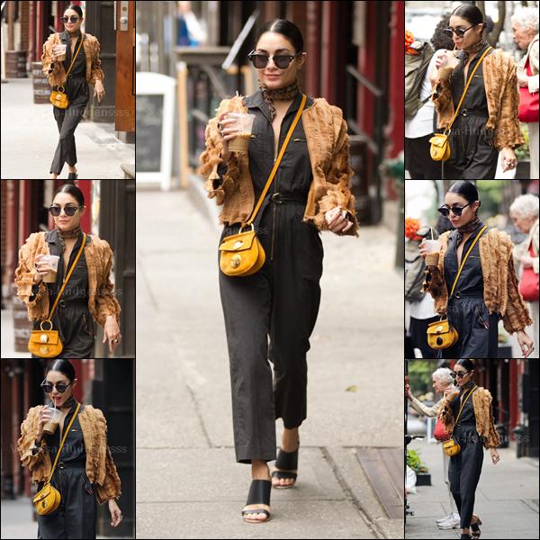 18.06.2015 : Vanessa a été photographiée quittant son appartement à New-York. Je n'aime pas du tout sa tenue, FLOP. Je n'aime que ses lunettes. Et vous ?