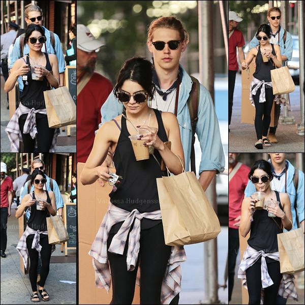 26.06.2015 : Vanessa a d'abord été aperçue quittant son appartement à New-York. J'aimerais revoir Nessa à L.A.. Concernant sa tenue, pour une tenue de sport ça va. BOF. Vos avis ?