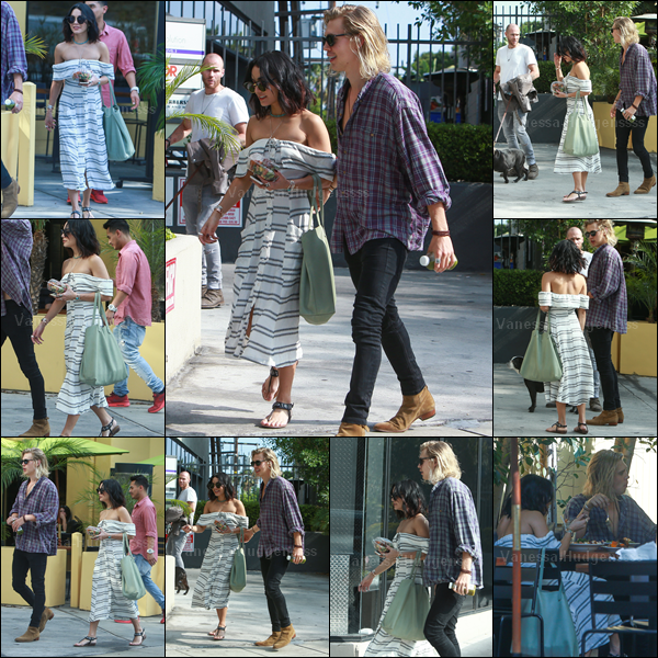 09.07.2015 : Vanessa a été photographiée avec son chéri Austin, dans les rues de West Hollywood. Vanessa est de retour à L.A ! Concernant sa tenue je n'aime pas trop sa robe, donc FLOP. Vos avis ?