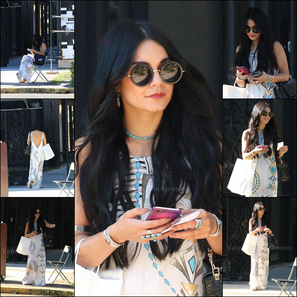 22.07.2015 : C'est une Vanessa avec le sourire qui a tout d'abord été photographiée dans West Hollywood avec Natalie Saidi. J'aime bien sa tenue, TOP. Vos avis ?