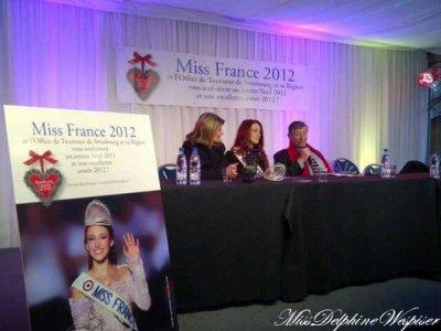 Delphine faisait une conférence de presse à Strasbourg!