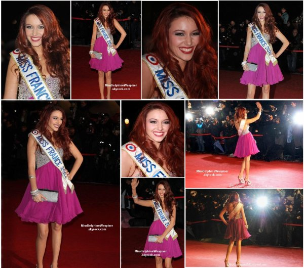 28/01/2012 Petit retour en arrière: Notre sublime Delphine a foulé les marches du tapis rouge à Cannes lors des Nrj Music Awards.