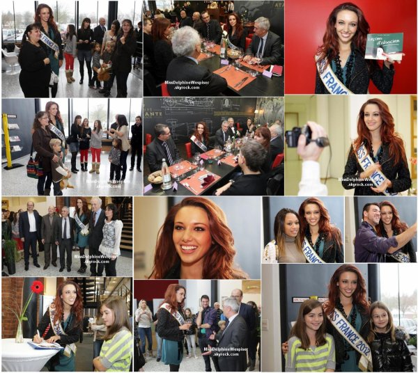 29/11 Petit retour en arrière, l'une des dernières sorties de Delphine en tant que Miss France 2012, au marché de Noël de Mulhouse, sur ses terres Alsacienne!