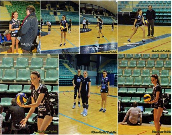 25/02 Delphine était à Mulhouse pour supporter les volleyeuses en compagnie de Miss Togo, elle a également commencé son entraînement, car c'est elle qui aura la tâche de lancer le match du 2 Mars prochain!